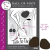 Ball of Foot Heel Cushions, Black 3 pair/pk